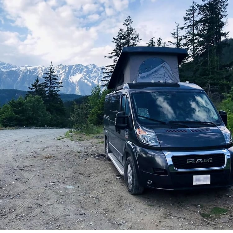 Camping near the mountains