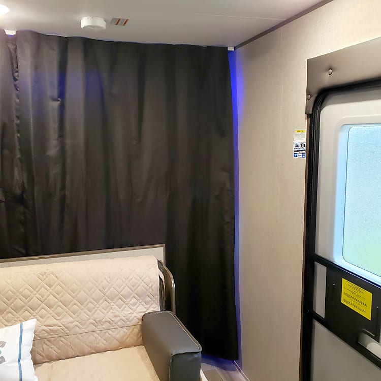 Privacy curtain for the master bedroom