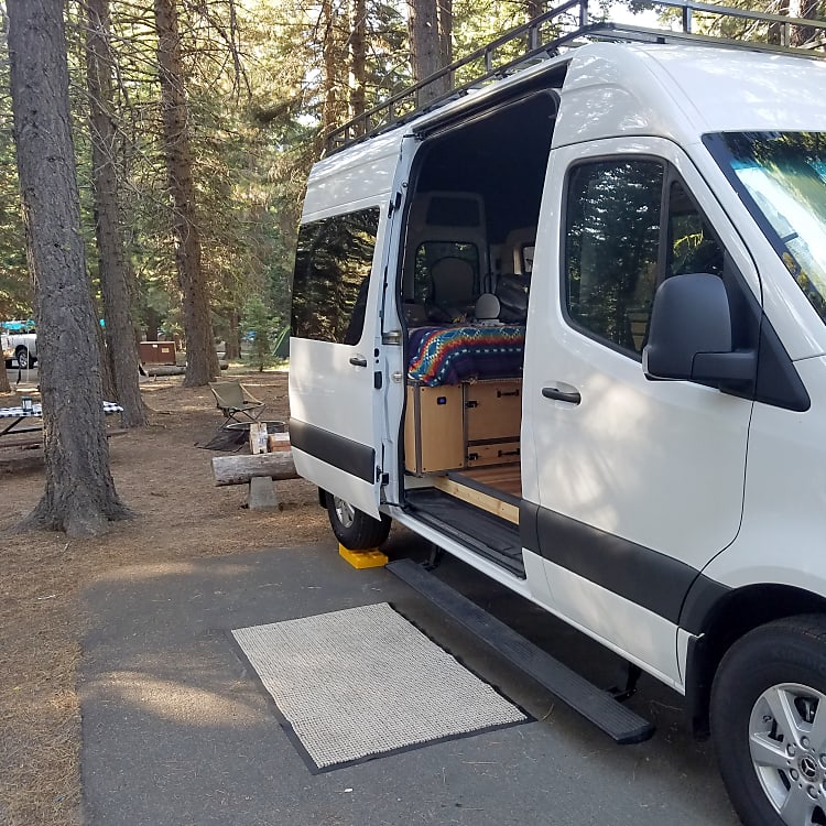 All set up in Manzanita Lake Campground, Lassen NP
