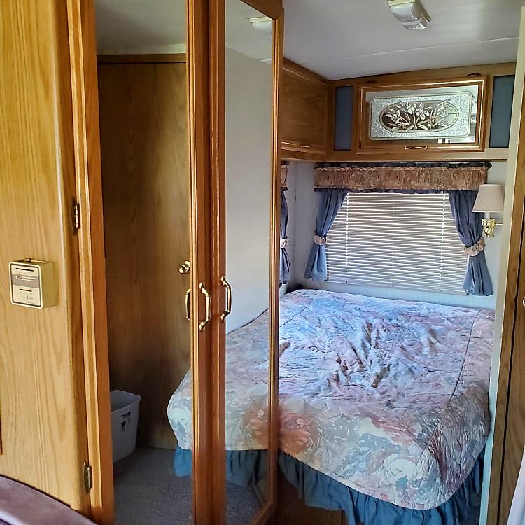 full double bed in rear