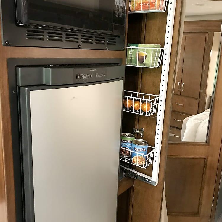 additional slide out food storage