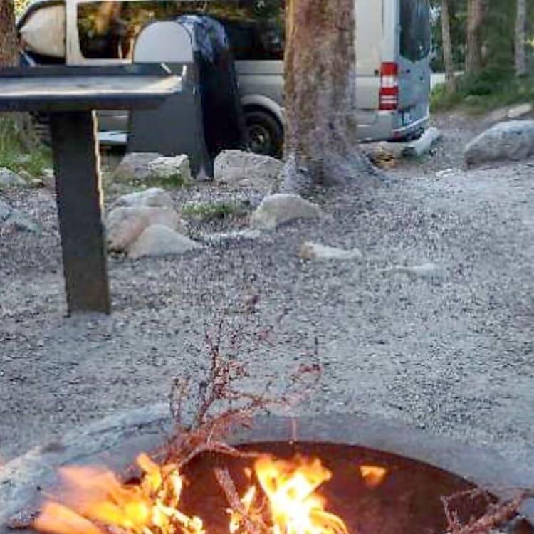 outdoor camping at Mirror lake