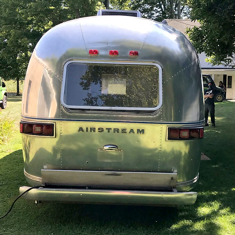 Rear view of Airstream