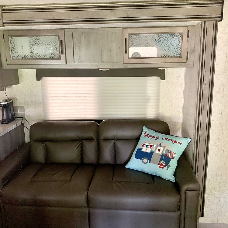 Couch (converts to bed) w/ large window