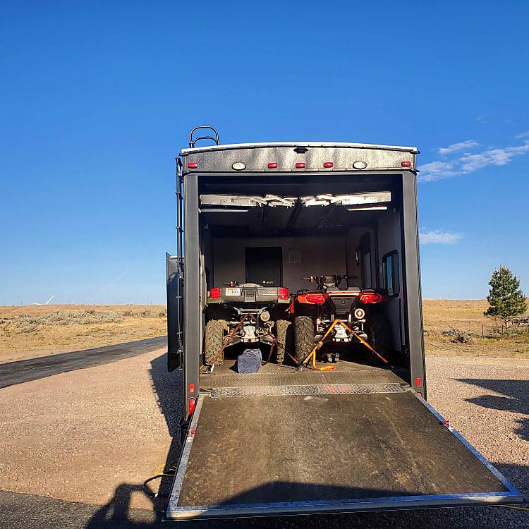 13 Foot Garage can hold (2) ATVs or (1)Polaris Ranger or (1) SidexSide