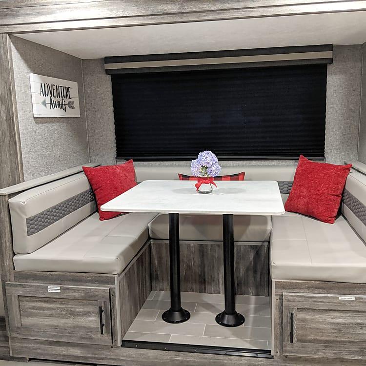 Large U-Shaped Dinette Table