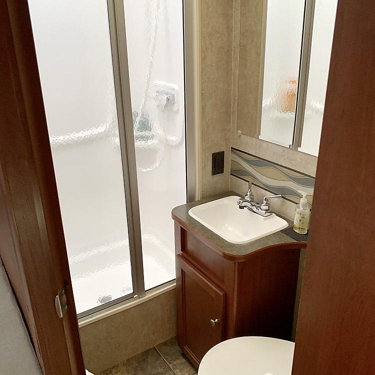 The rear bathroom
