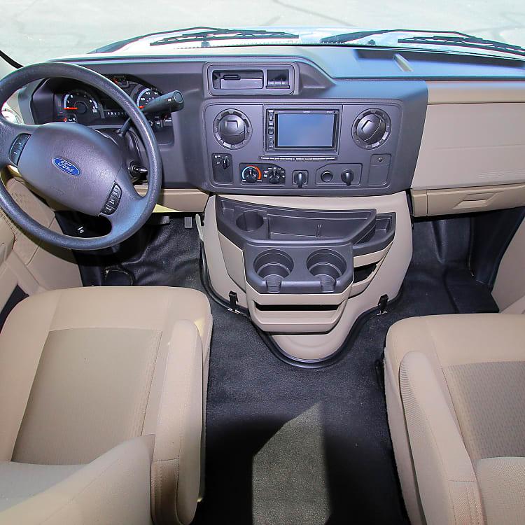 Comfortable driver/passenger cabin