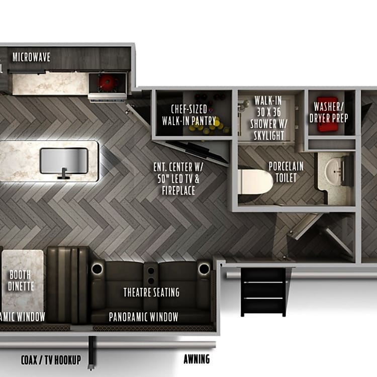 Amazing floorplan with seperate bunkhouse and master + rare washer/dryer!