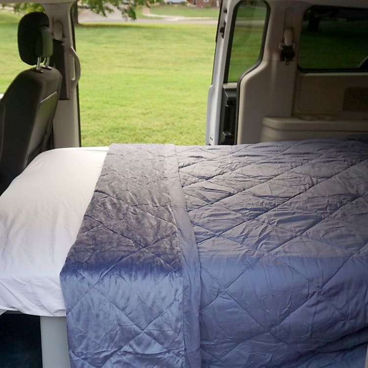 Included in the van rental are sheets and a warm blanket.