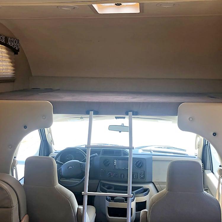 Cab-over bunk