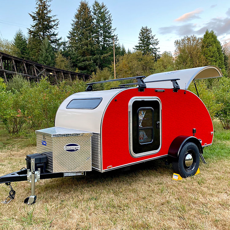 Amerigo is EASY to tow behind an SUV or a small truck and weighs just over 1,600 lbs.