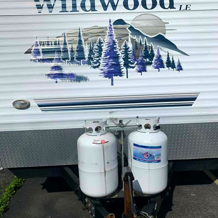 2 Full Size Propane Tanks message for details how much is included