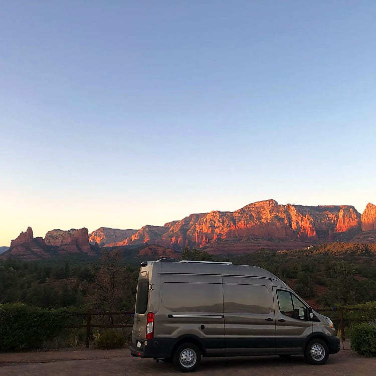 Sitting in front of a beautiful Sedona sunset!