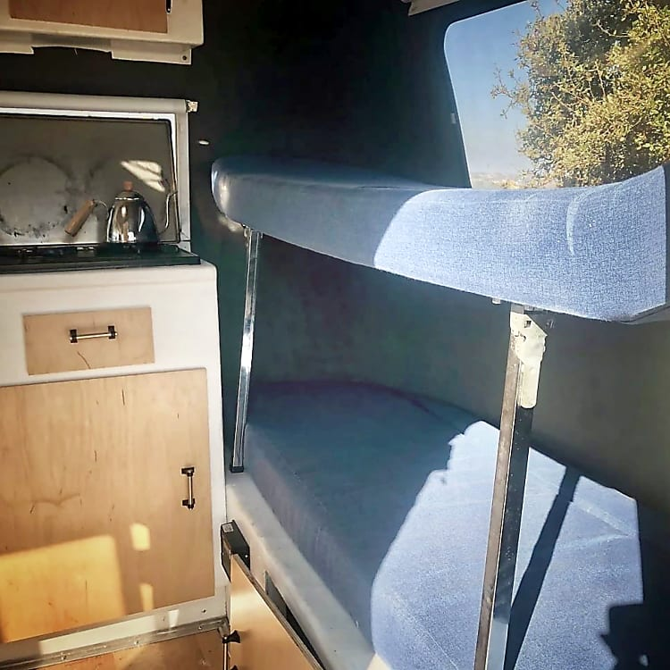 Bunk Bed set up (recommend max weight 75lbs top bed)