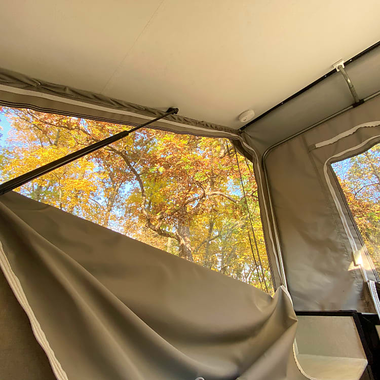Some great views of the Midwest Fall! The screens can all be zipped up for water and cold protection or opened for the nice breeze.