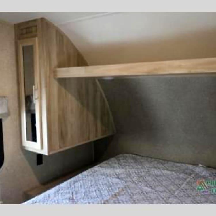 Master bedroom with plenty of storage