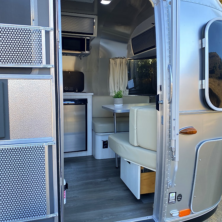 Once you step foot into the Airstream you will notice the difference in qaulity and comforts.