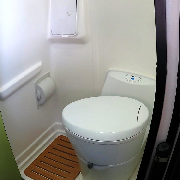 The bathroom is nice, clean and easy to use.