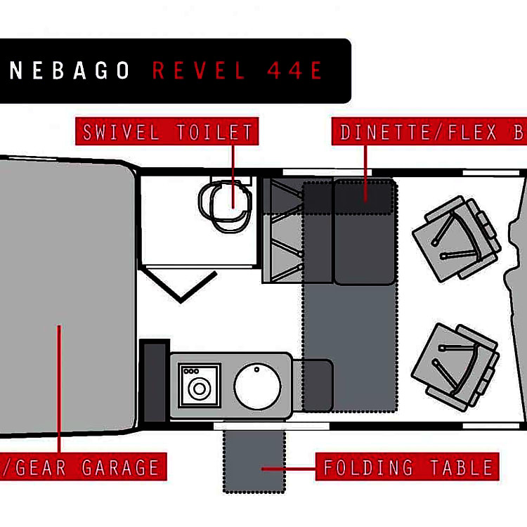 This shows the way the second sleeping accommodations open up to setup another bed.