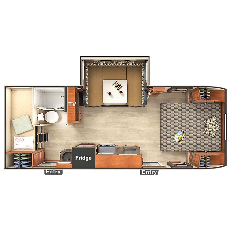 Floorplan with the Sofa converted into a bed