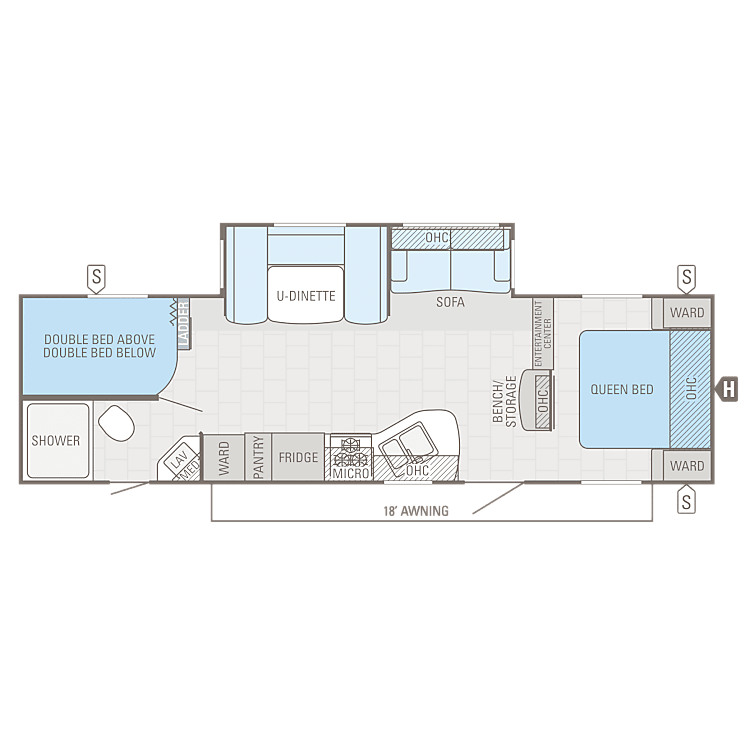 Great floor plan for larger families on the go!