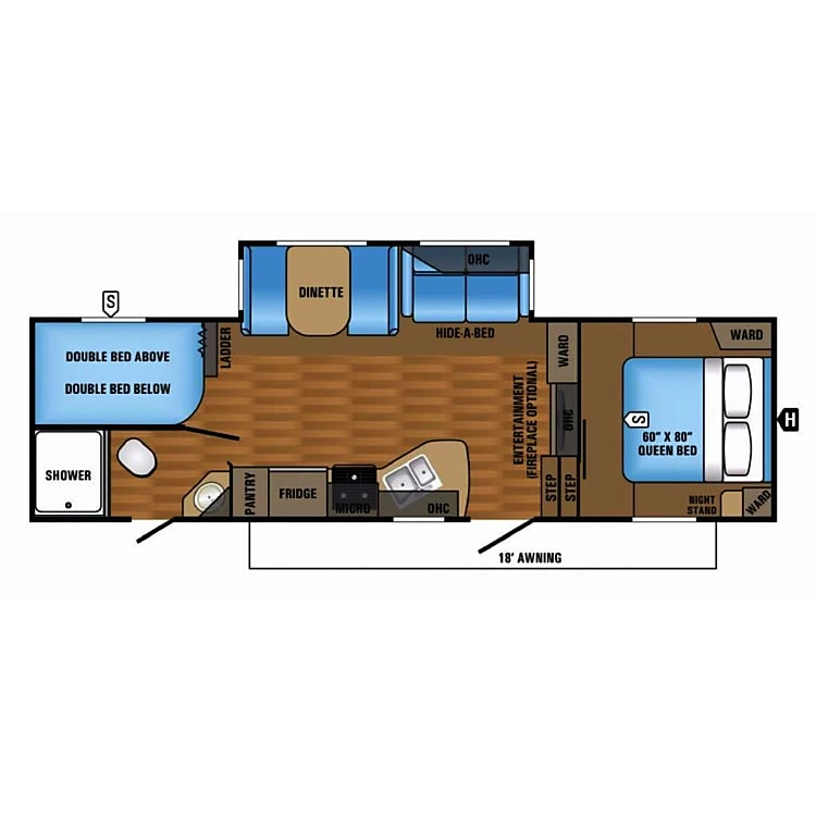 overall layout of the camper