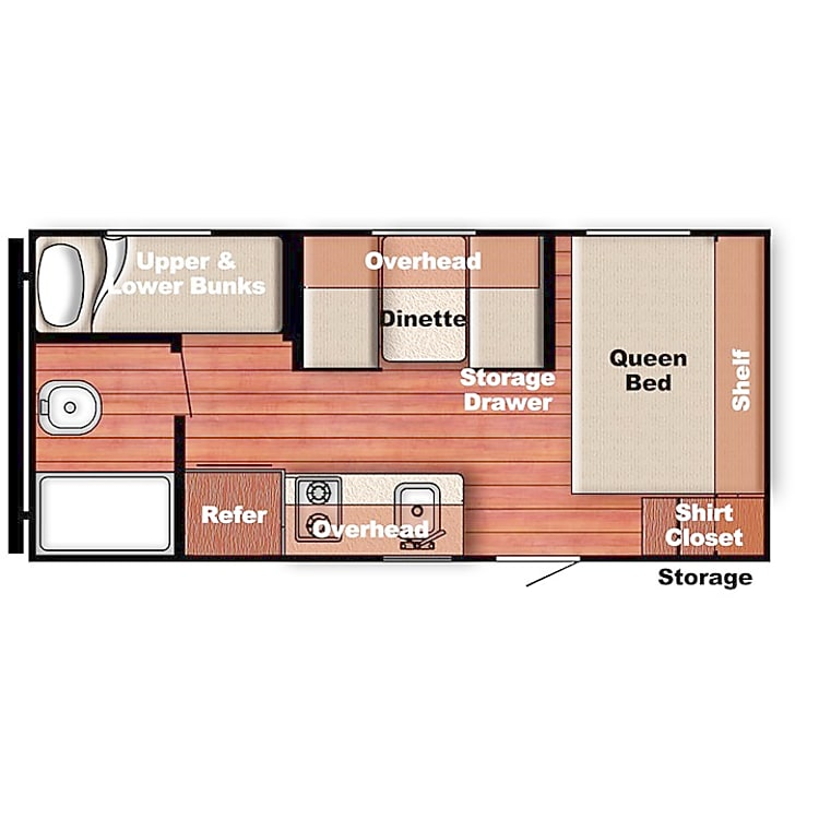 Amerilite 199DD - Floorplan