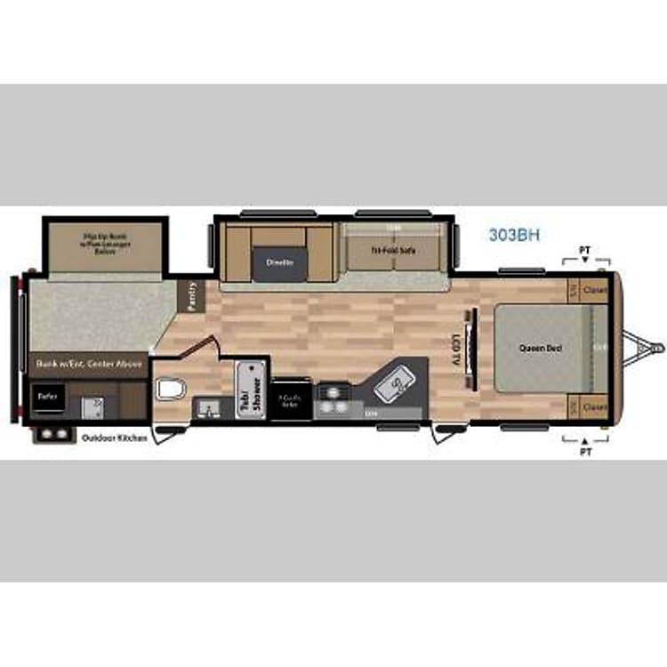 Floorplan of trailer
