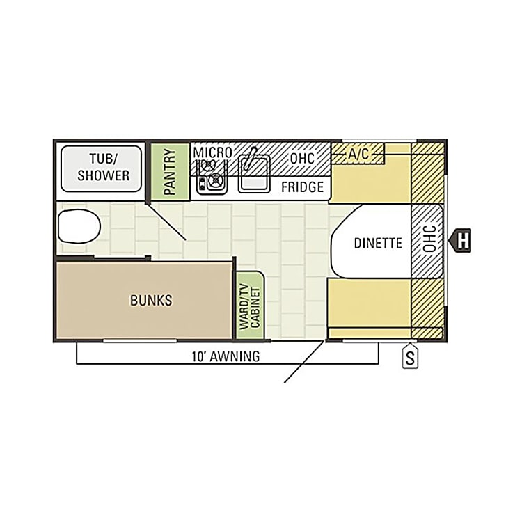 Floor Plan for our AR-ONE 16BH.