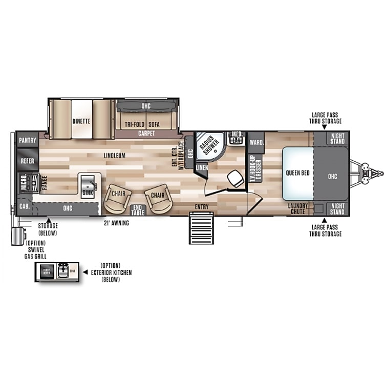 Perfect family time layout with large living room space.