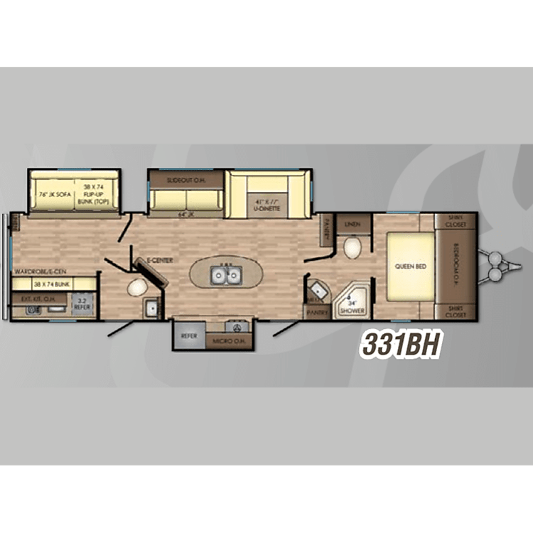 Great floorplan for families and larger groups!
