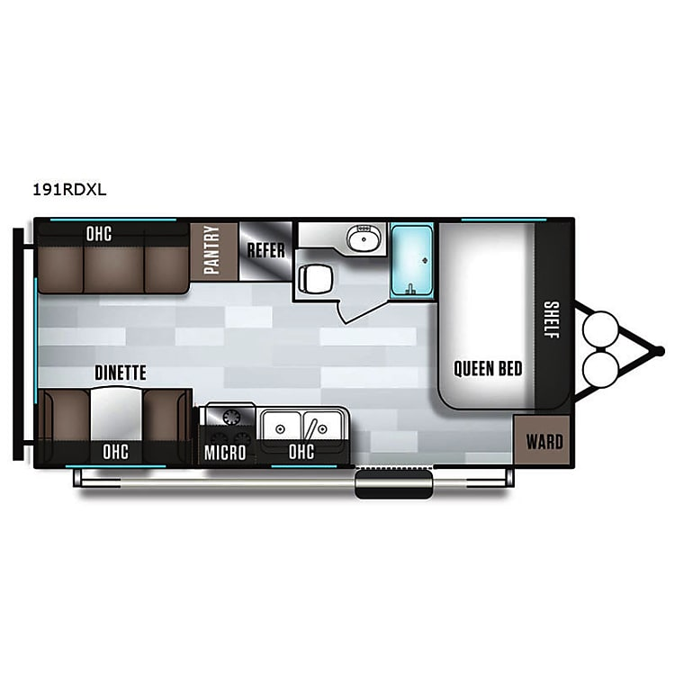 Efficient floor plan.  Great use of space.