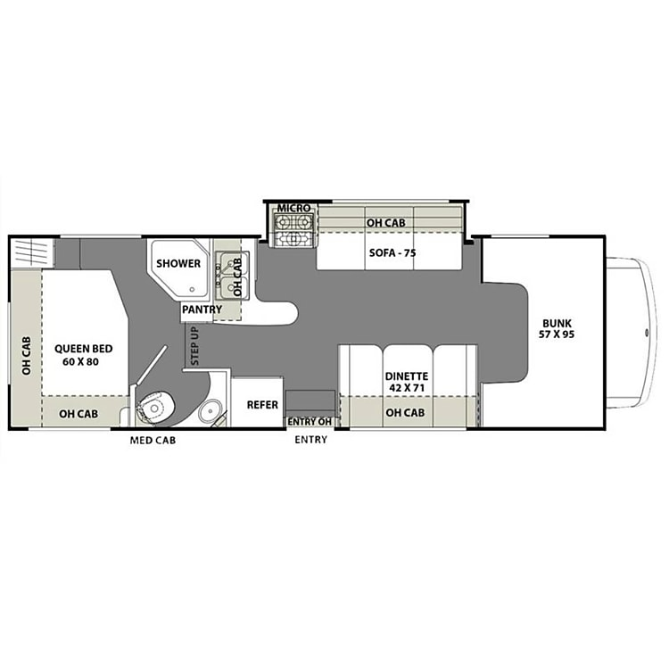 Great layout with four sleeping areas!