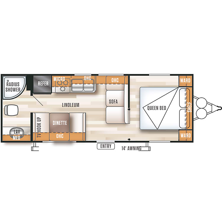 Floor  plan on this model is open and roomy