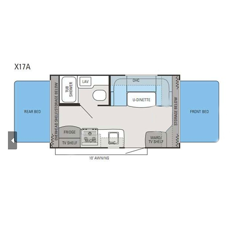 Floorplan of the Jayco X17A