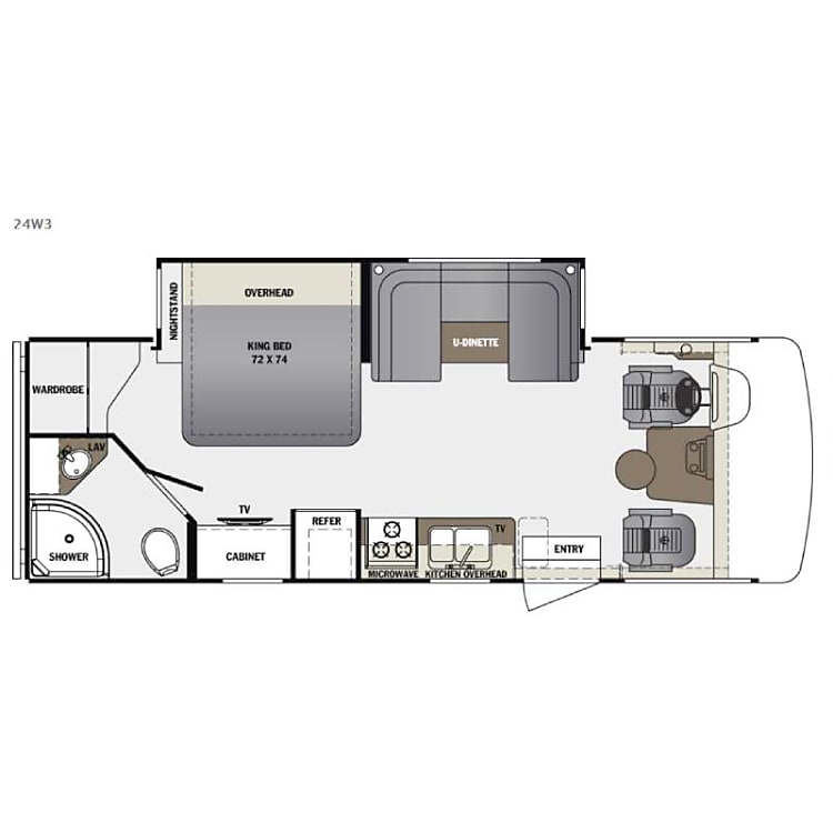 Well thought-out floor plan.  Perfect for 2 adults and a few kids.   (or 5 adults if they really like each other!)