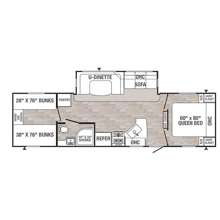 This floorplan is for a 2015 Palomino Canyon Cat