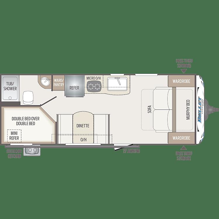 Floorplan of the RV