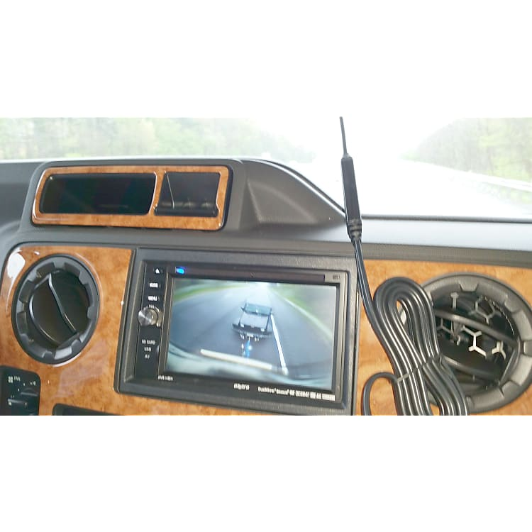 Radio with rear and side camera viewing