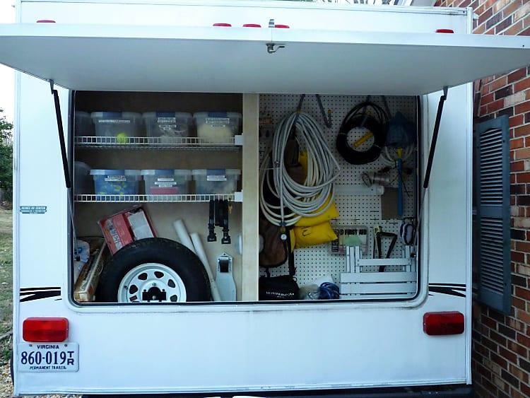 Rear storage area