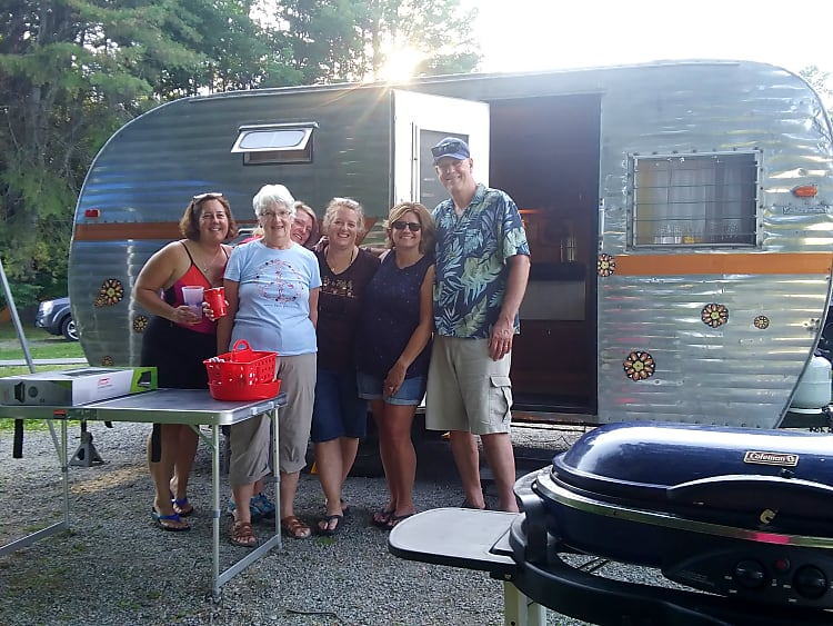 Her maiden voyage...Tin Can Annie was the talk of the campground, according to the caretaker at Scaroon Manor State Campground overlooking Schroon Lake in the Adirondacks!