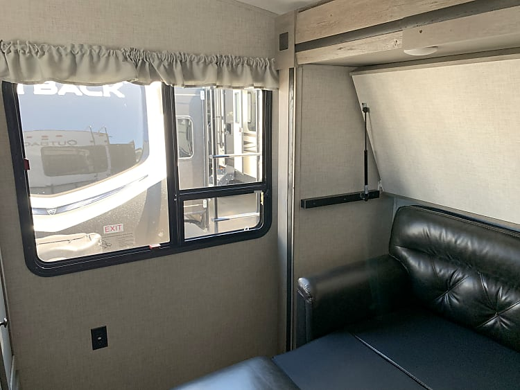 Bunk room with couch and bunk
