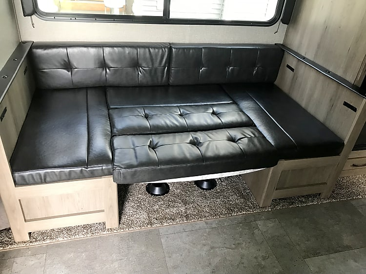 Dinette made into twin bed