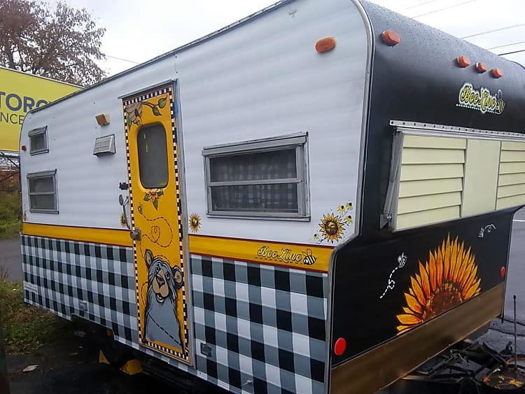 Get a buzz on by renting this classic 50 year old updated gem, perfect for a party, a music concert, a family reunion, or heck, camping in style - vintage style, of course.