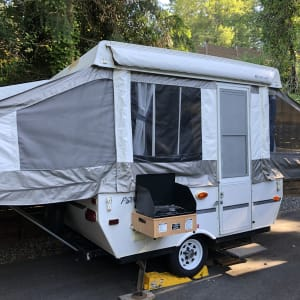 Super Easy Pop-Up trailer great for families!