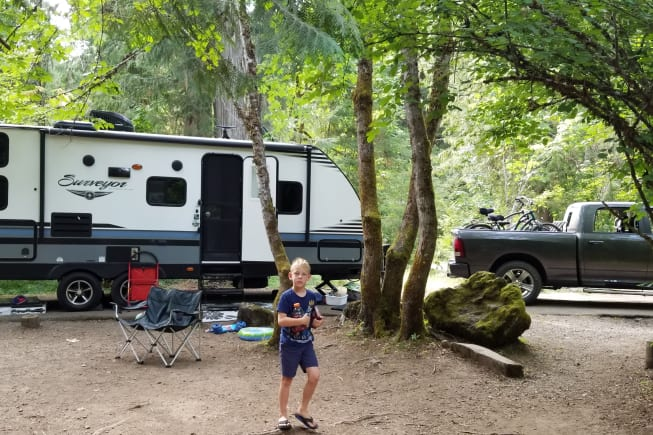 Camping with our oldest son.