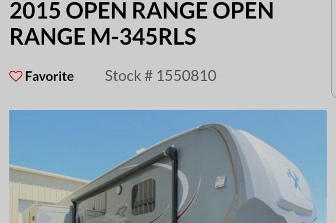 2015 Open Range Open Range available for rent in Cedarcreek MO