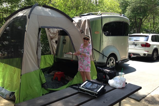 Light towing and easy set up with or without an awning or extension tent.