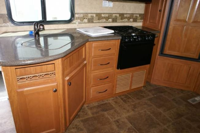 All your kitchen needs conveniently located.